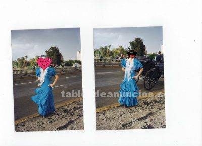 Traje de flamenca talla 40-42 + MANTONCILLO