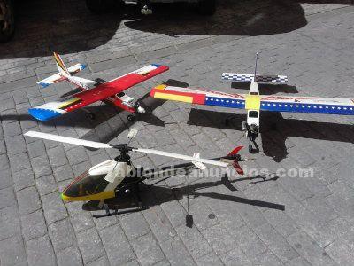 Lote r.c aviones y helicopteros