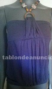Camiseta joya azul