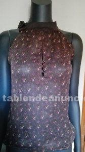 Camiseta floral de gasa