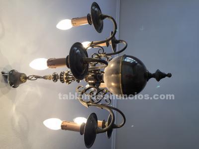 Lámpara bronce 1970, casa valentí . Dos juegos