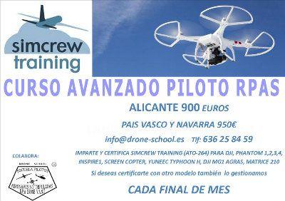 Curso de piloto rpas (drones)