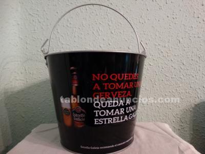 CUBO ENFRIADOR METÁLICO CERVEZA ESTRELLA DE GALICIA