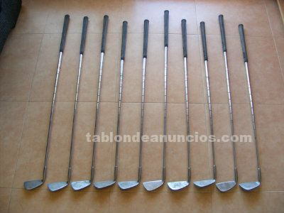 "Palos de golf (x10) ""petron gs camber sole""."