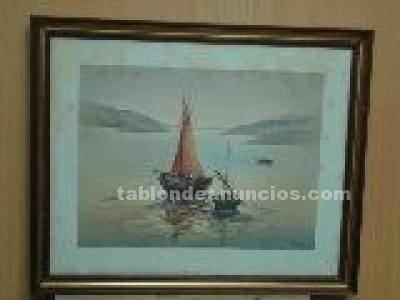 Cuadro  foto un barco