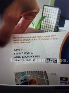 Uefa champions league final tickets
