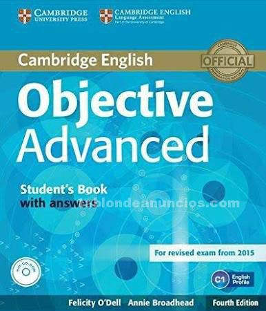 Vendo objective advanced student's book, teacher's book & cds