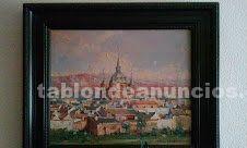 Vendo cinco cuadros oleos y acuarela de pintores reconocidos