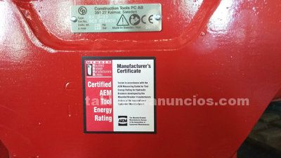 Martillo hidraulico chicago pneumatic rx 3