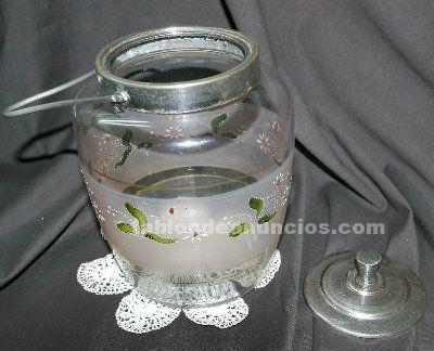 Antigua bombonera de cristal,s.xix
