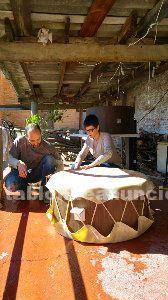 Construcción tambor chamanico