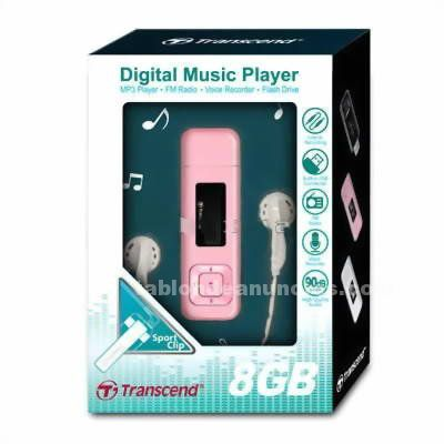 Reproductor mp3 transcend 8gb + fm