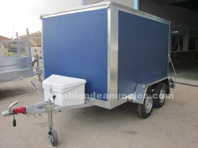 Remolque para autpescuela furgon de 2400x140x150 con 2 ejes