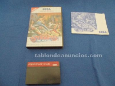 Streets of rage sega master system completo pal españa