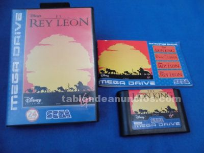 El rey leon the lion king sega megadrive md pal españa completo