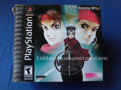 ARC THE LAD COLLECTION I II III PLAYSTATION PSX PS1 NTSC USA CA