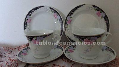 VENDO JUEGO DE TE O CAFE DE 6 PUESTOS CON PLATOS PARA PASTAS