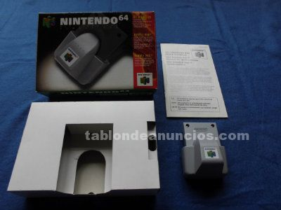 RUMBLE PAK KIT VIBRATION NINTENDO 64 N64 COMPLETO CAJA