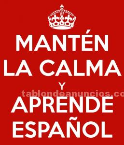 Clases particulares de español / spanish private lessons for foreigners