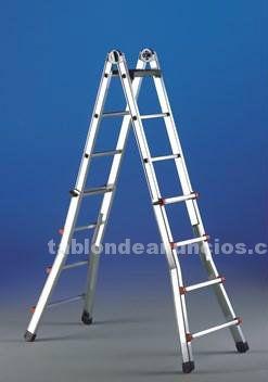 Escalera telescópica multiposicion 10 peldaños