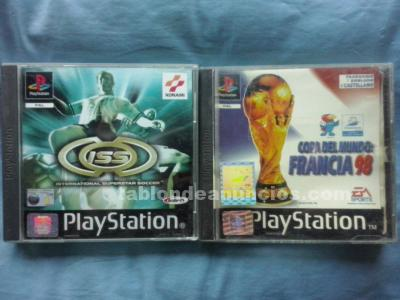 JUEGOS ISS Y WORLD CUP FRANCE 98 PS1