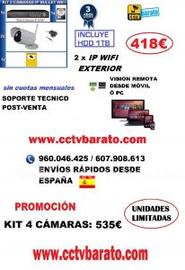 Oferta kit videovigilancia ip wifi hd exterior