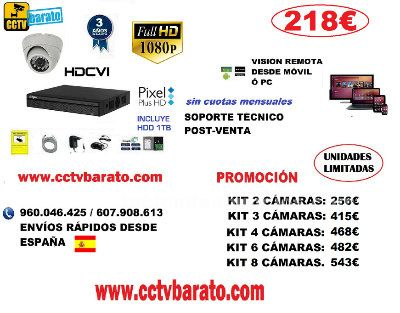 Oferta kit videovigilancia interior 1080p full hd