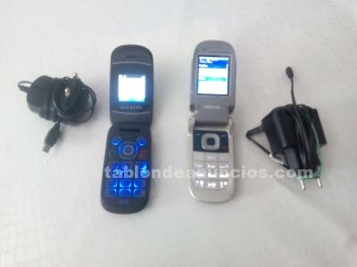 Telefonos movil nokia y alcatel movistar