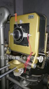 Cámara de fuelle de estudio + carro/soporte + objetivos + disparador eléctrico