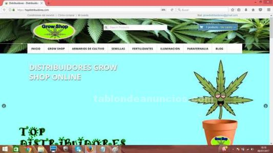 Tienda online grow shop, web grow shop, growshop