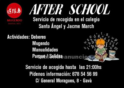 Tabl n de anuncios servicio de acogida after school for Ofertas trabajo gava
