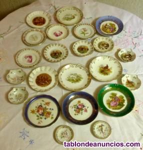 Platos porcelana antiguos