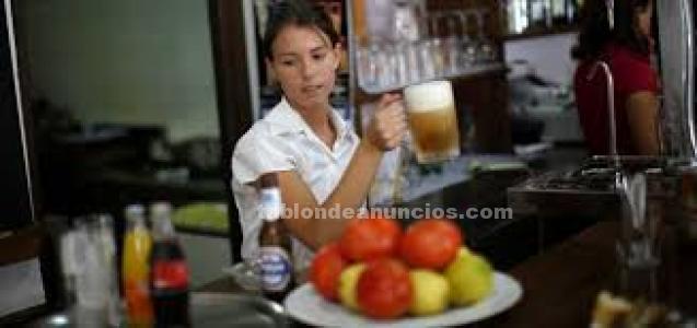 Camarera para restaurante