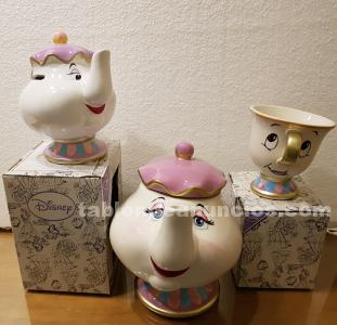 TAZA CHIP, TETERA MRS POTTS Y TETERA HUCHA