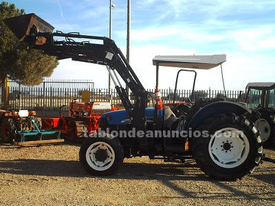 NEW HOLLAND TN80F CON PALA, TRACTOR FRUTERO NEW HOLLAND TN80F CON PALA.