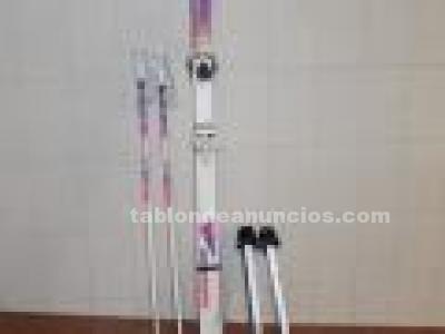 ESQUIS MARCA ROSSIGNOL CON BASTONES medida 1,70m
