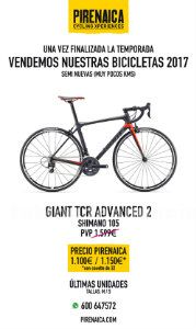 Bicicleta de carretera - giant tcr advanced 2