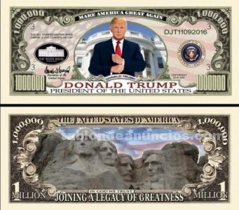BILLETE DONALD TRUMP. PRESIDENTE EEUU - PRESIDENT TRUMP.