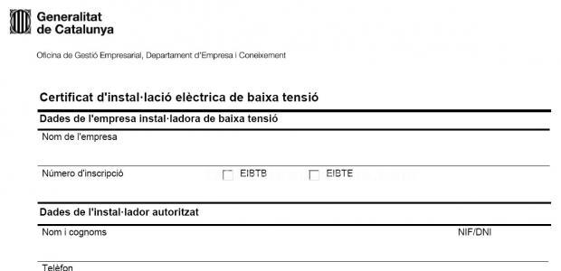 Boletines eléctricos, certificados eléctricos, altas