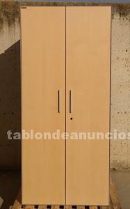 Armario de oficina chapa y madera 179cm