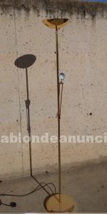 Lámpara dorada de pie 198cm