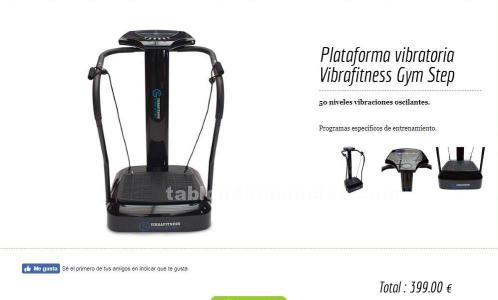 Plataforma vibratoria vibrafitness gym step