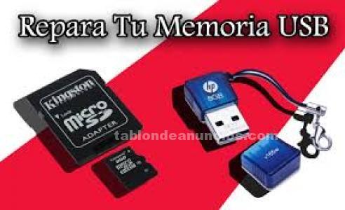 Reparacion y Recuperacion Discos Duros Tarjetas de memorias USB FLASH y Moviles