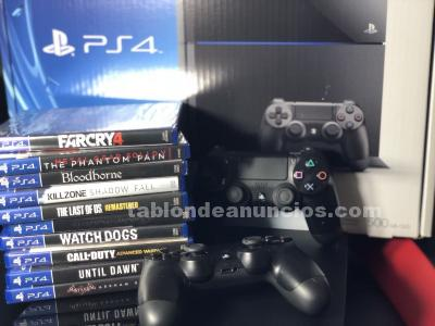 SONY PLAYSTATION 4 LAUNCH EDITION 500 GB JET BLACK CONSOLE 10 JUEGOS