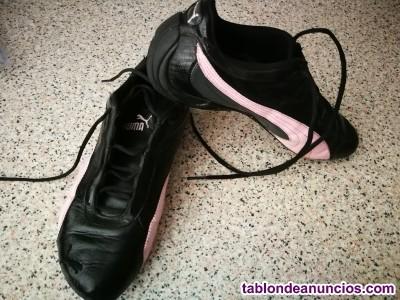 Zapatilla de Puma originales negras con rosa talla 37