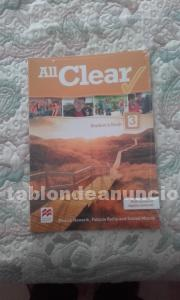 VENDO ALL CLEAR 3º ESO STUDENT BOOK, DE EDITORIAL MACMILLAN (PRECINTADO).