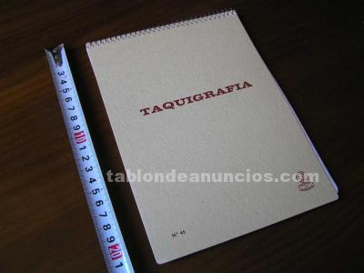 Cuaderno taquigrafia nuevo sin usar nº. 45 font material escolar registro 2-b fa