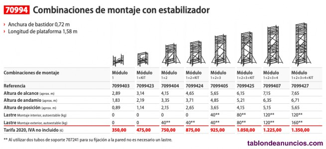 Andamio torre movil