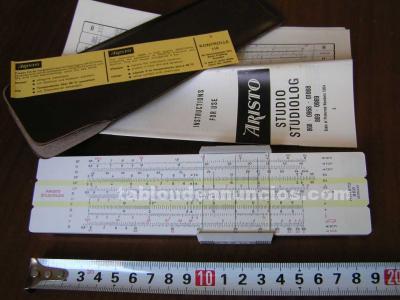 Regla de calculo aristo 869 studiolog - 28 escalas calculadora