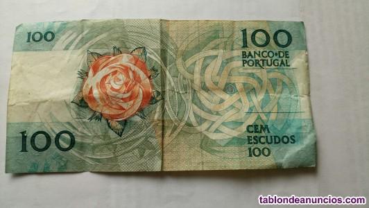 Billetes de  20 y 100 escudos portugueses
